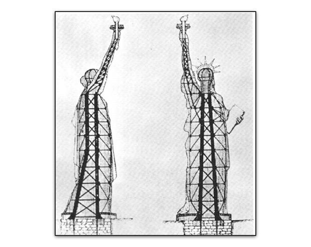 Armazón estatua de la libertad