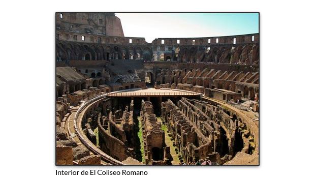 El interior de el coliseo Romano