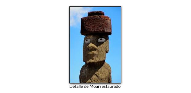 Detalle de Moai restaurado