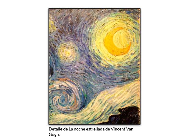 Detalle de La noche estrellada de Vincent Van Gogh