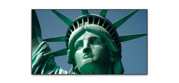 Rostro estatua de la libertad