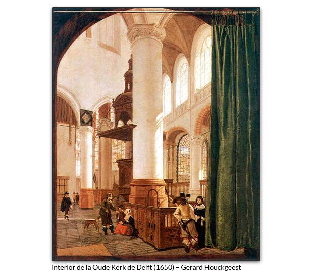 Interior de la Oude Kerk de Delft