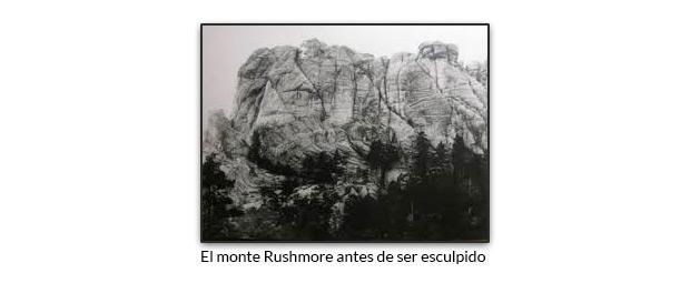 El monte Rushmore antes de ser esculpido