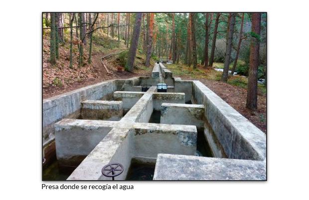 Presa donde se recogía el agua