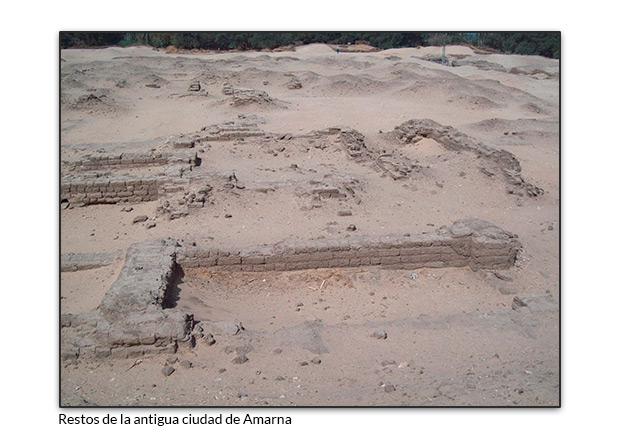 Restos de la antigua ciudad de Amarna
