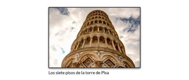 Los siete pisos de la torre de Pisa