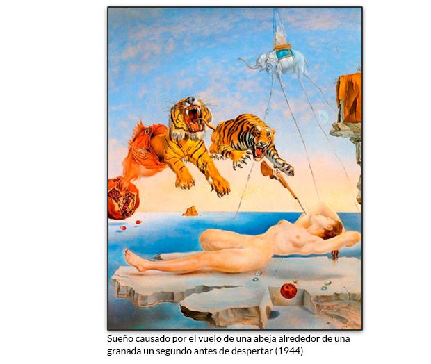 Sueño causado por el vuelo de una abeja alrededor de una granada un segundo antes de despertar