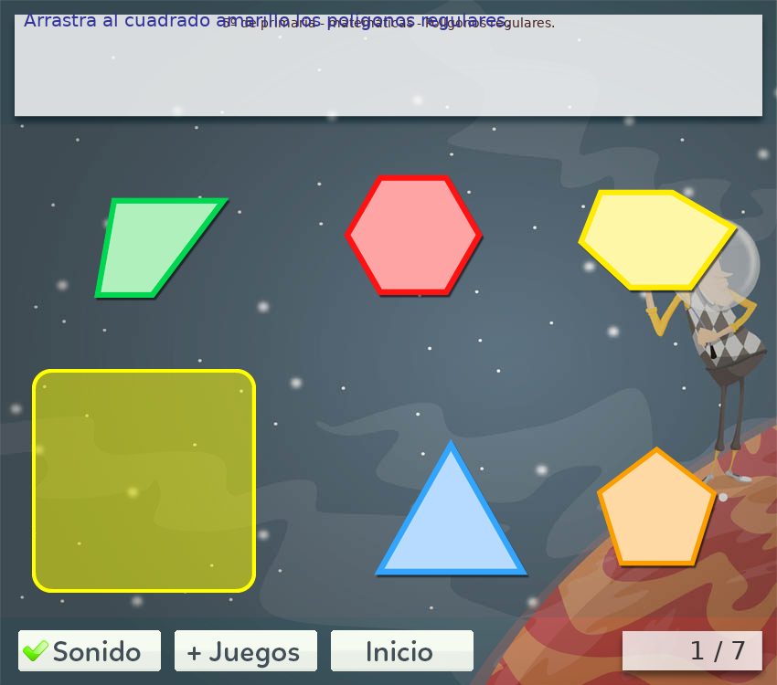 Juegos de geometría de 5º de primaria