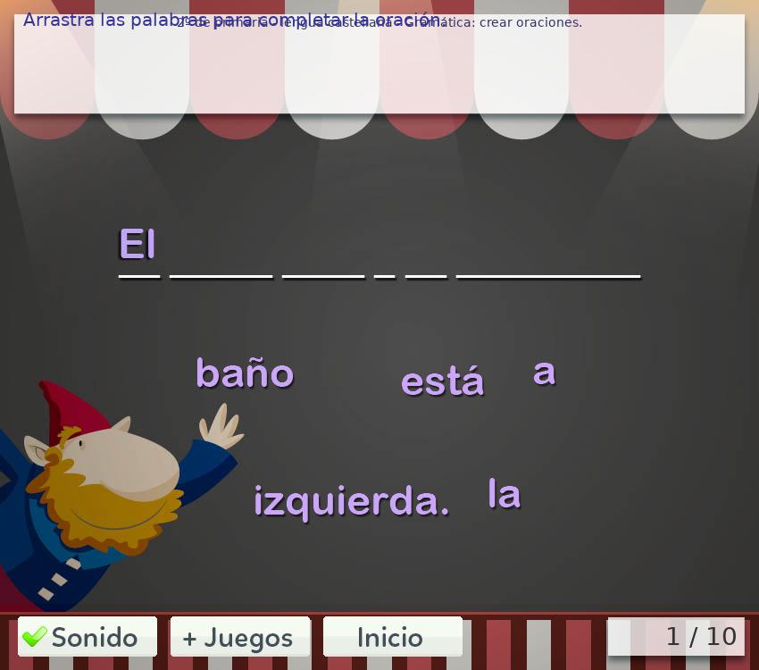 Juegos de gramática 2º primaria