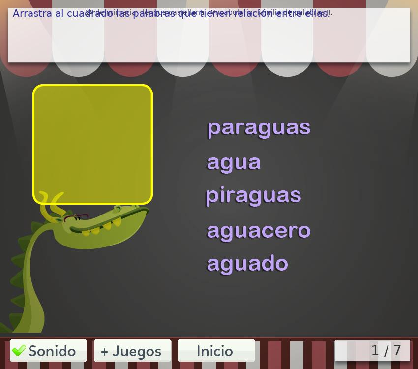 Juegos de vocabulario 1º de primaria