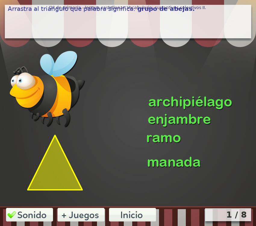 Juegos de vocabulario 2º de primaria