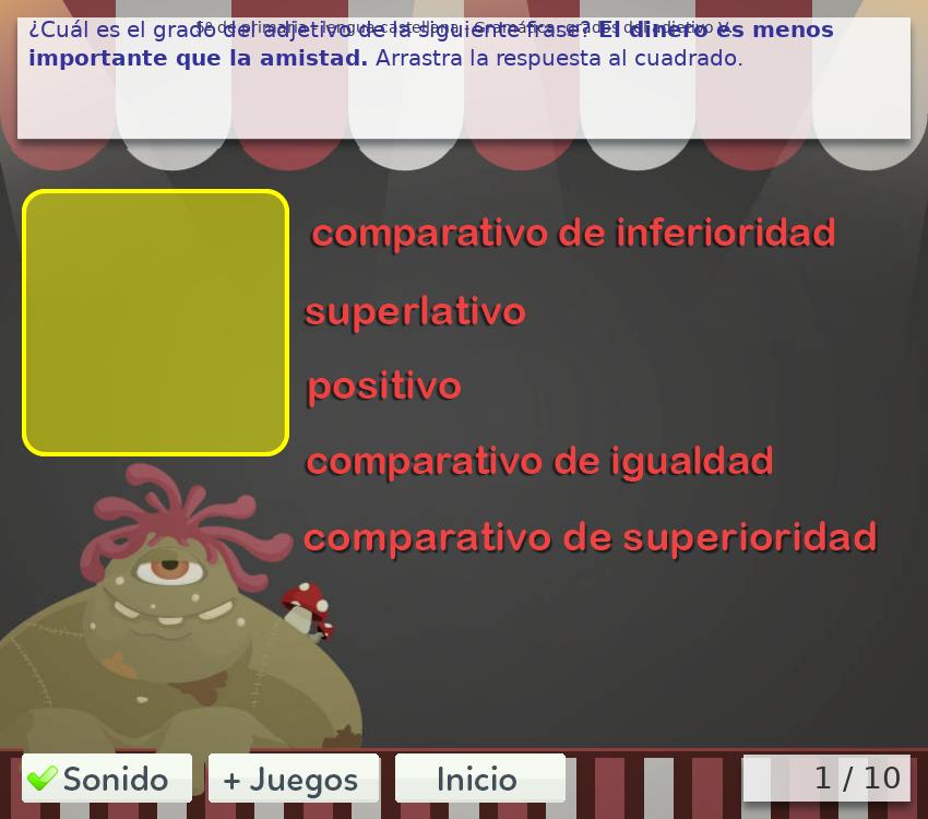 Juegos de gramática 5º primaria