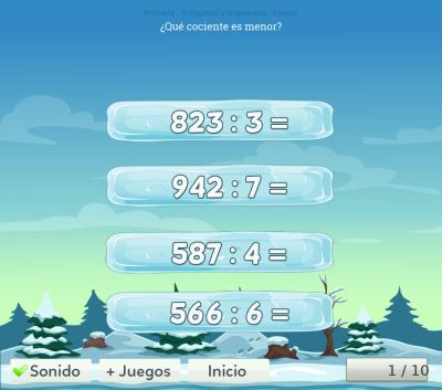 Test de matemáticas para cuarto de primaria