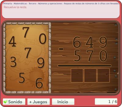 Juegos de números y operaciones 3º primaria