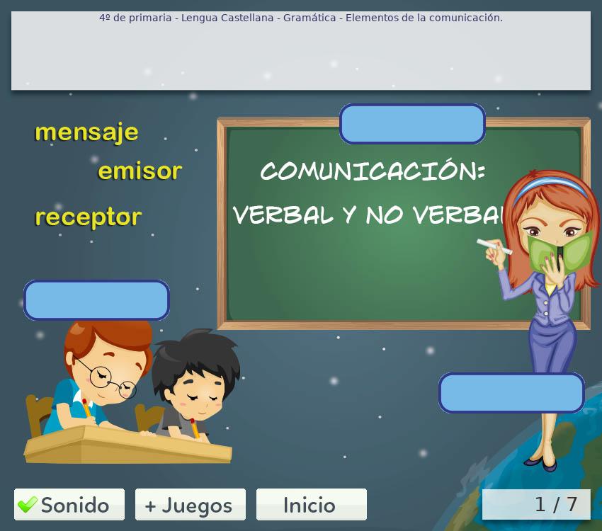Juegos de gramática 4º primaria