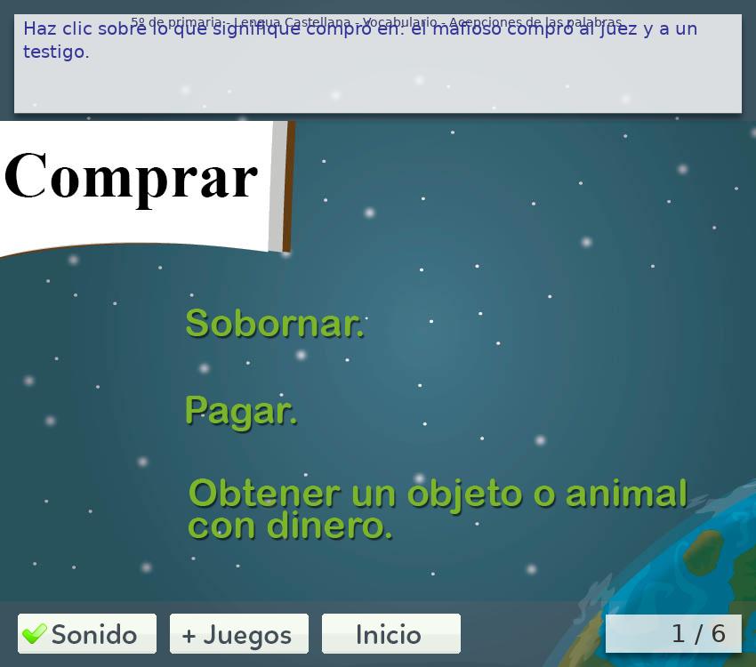 Juegos de vocabulario 5º de primaria