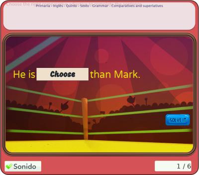 """Juegos de inglés - """"Grammar"""" para quinto y sexto de primaria"""