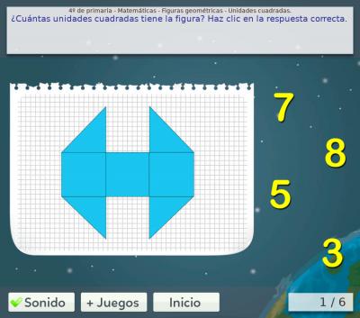 Juegos de geometría de 4º de primaria