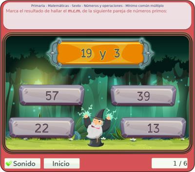 Juegos de números y operaciones 6º primaria