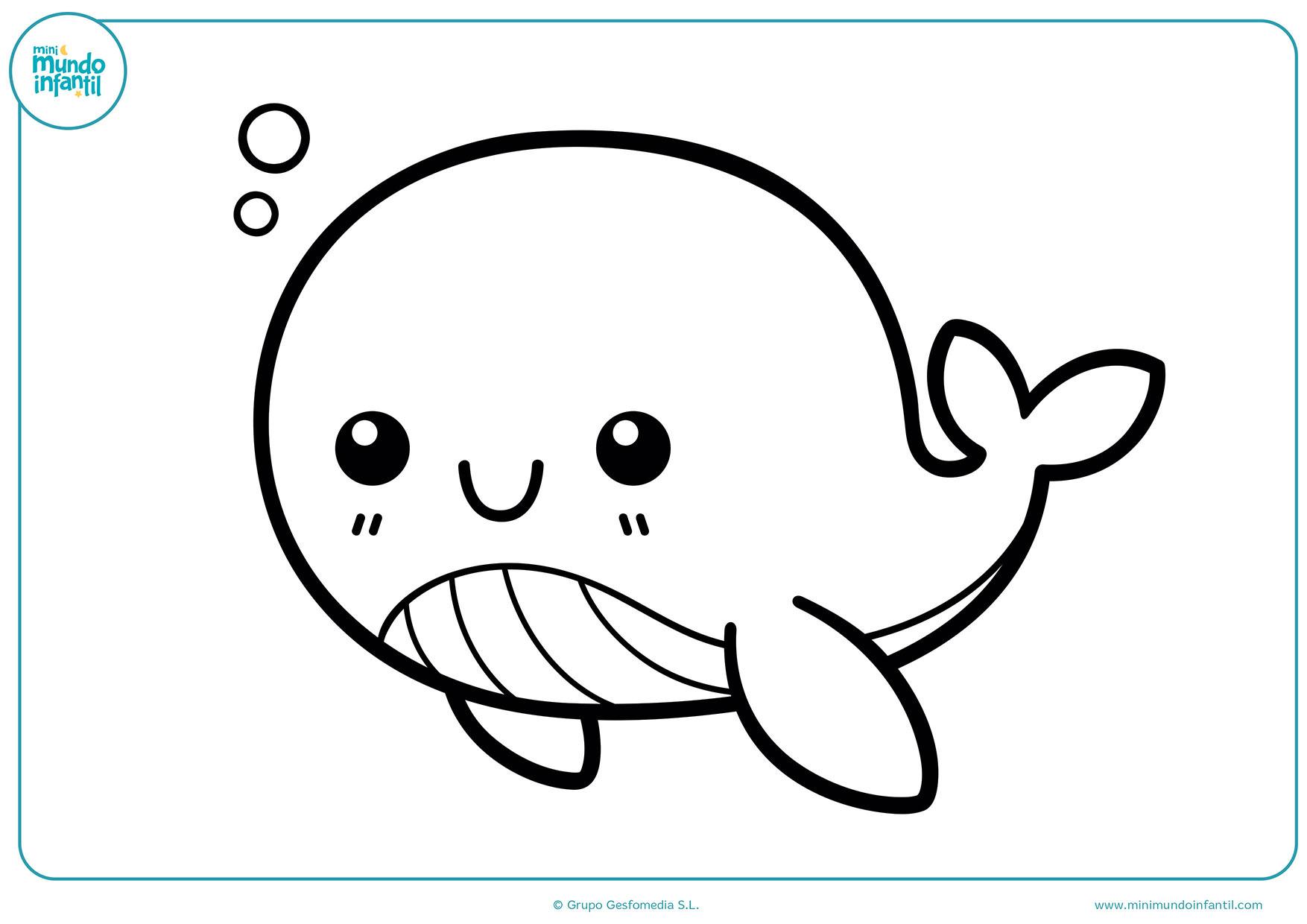 Worksheet. Dibujos de animales marinos para colorear  Mundo Primaria