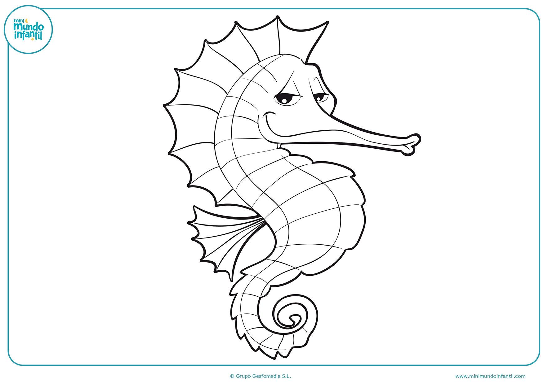 Colorear NiÑos Del Mundo: Dibujos De Animales Marinos Para Colorear
