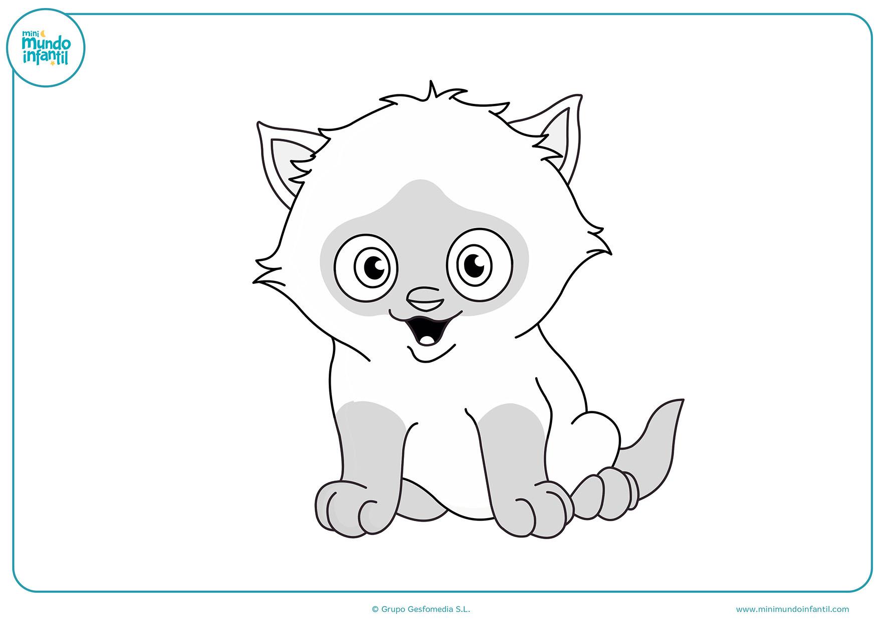 Perfecto Gatitos Bebé Para Colorear Inspiración - Enmarcado Para ...