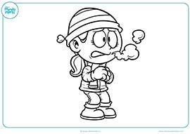 Dibujos de niños y niñas para colorear - Mundo Primaria