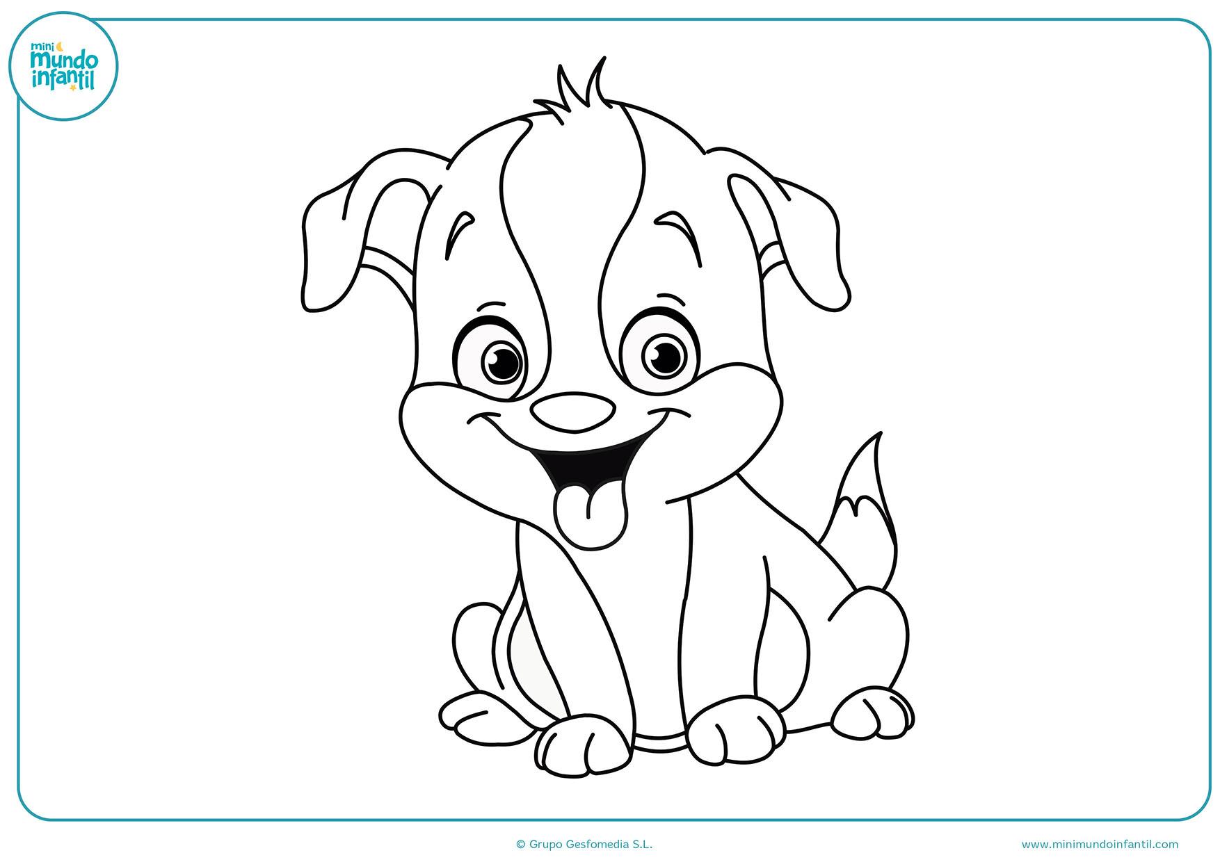 Perro De Dibujo. Trendy Dibujo Para Colorear Perro Bulldog