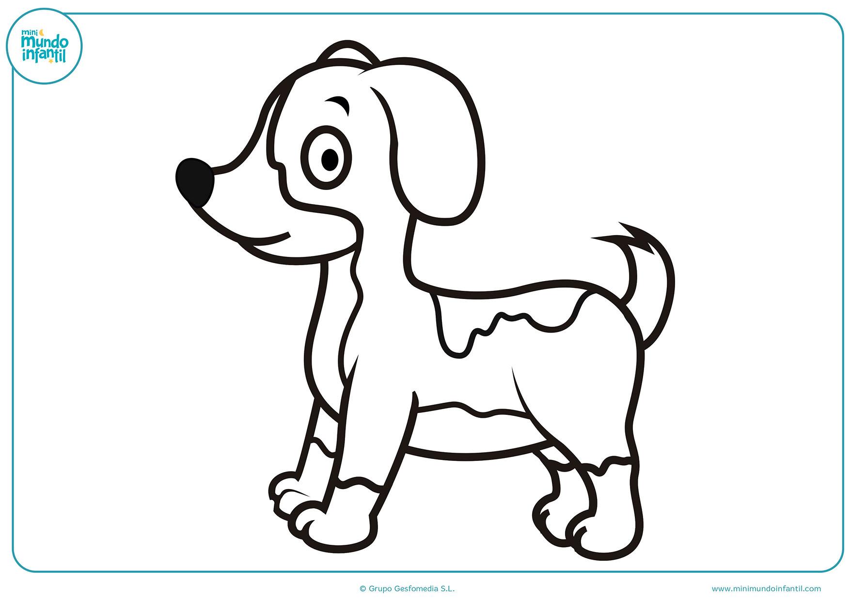 Dibujos Sin Colorear De Animales: Dibujos De Perros Para Colorear