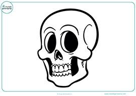 Dibujos de halloween para colorear mundo primaria for Immagini teschi disegnati