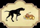 Los dos perros del cazador