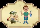Fábula de El cazador y el pescador