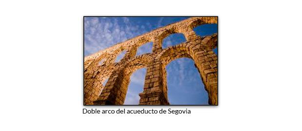 Doble arco del acueducto de Segovia