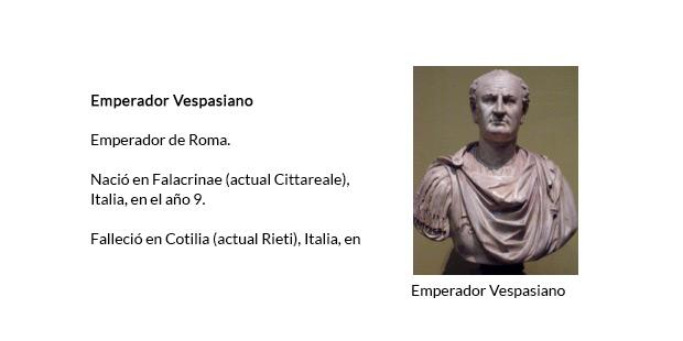 Emperador Vespasiano