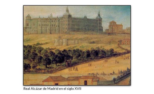 Real Alcázar de Madrid en el siglo XVII