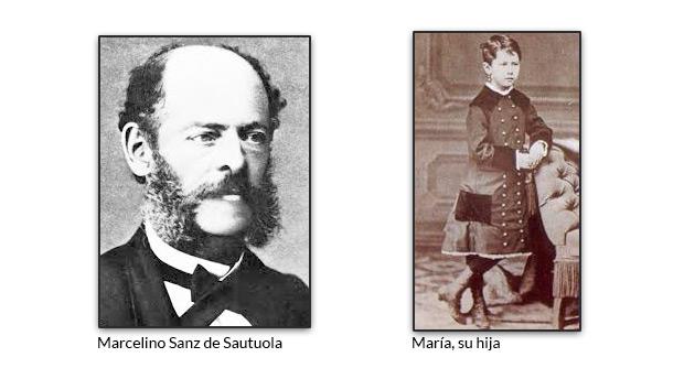 Marcelino Sanz de Sautuola y María, su hija