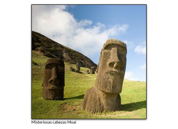 Misteriosas cabezas Moai