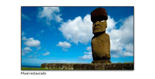 Moai restaurado