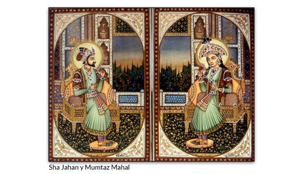 Sha Jahan y Mumtaz Mahal