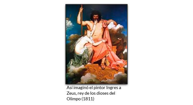 Así imaginó el pintor Ingres a Zeus, rey de los dioses del Olimpo (1811)