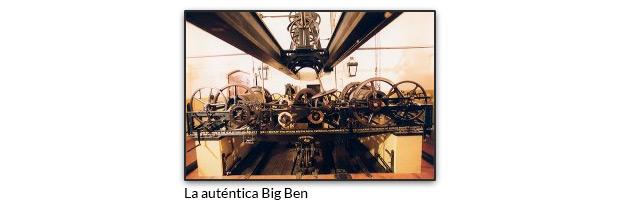 Parte del complejo mecanismo del Big Ben