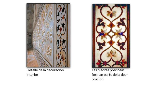 Detalle de la decoración interior