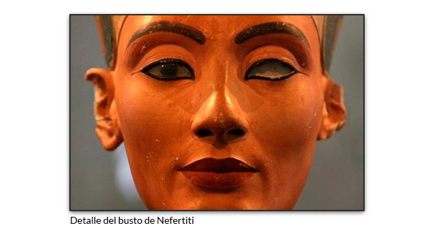 Detalle del busto de Nefertiti