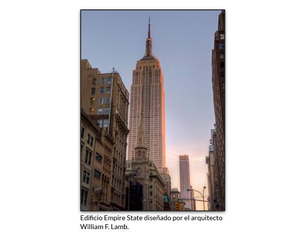 Edificio Empire State diseñado por el arquitecto William F. Lamb