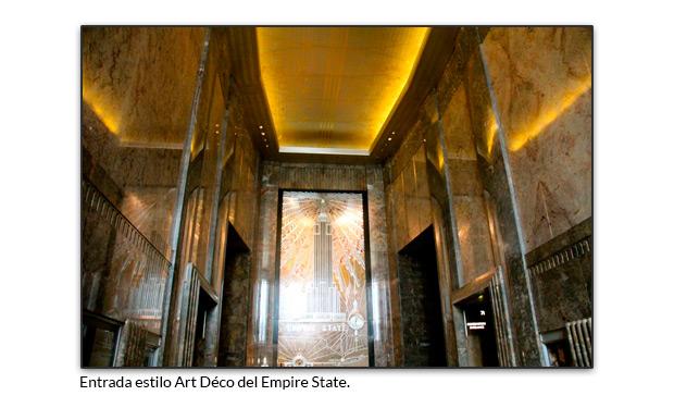 Entrada estilo Art Déco del Empire State