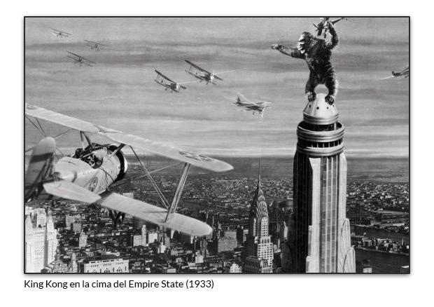 King Kong en la cima del Empire State