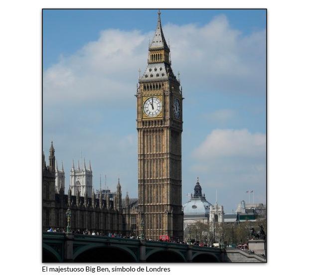 El majestuoso Big Ben, símbolo de Londres