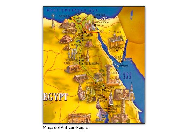 Mapa del Antiguo Egipto
