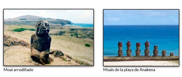Moai arrodillado