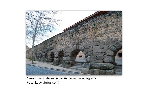 Primer tramo de arcos del Acueducto de Segovia